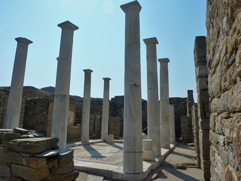 Site archéologique de Délos au large de Mykonos