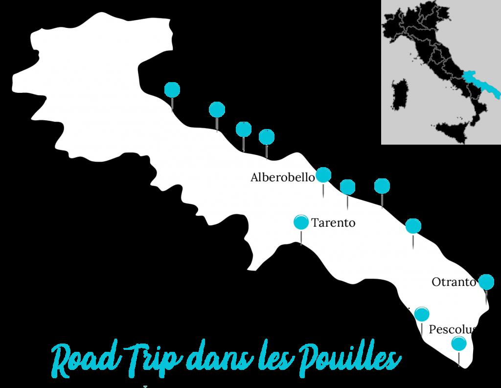 Road trip dans les Pouilles itinéraire