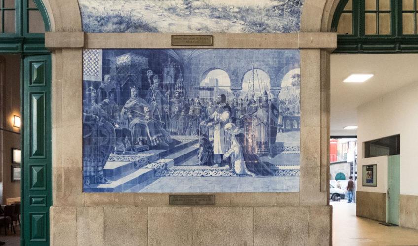 azulejos de la Gare de Sao Bento