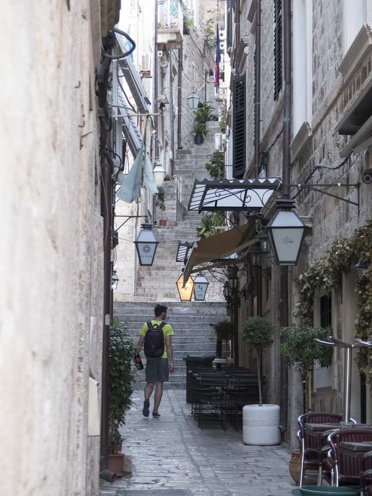 ruelle de la vieille ville de Dubrovnik