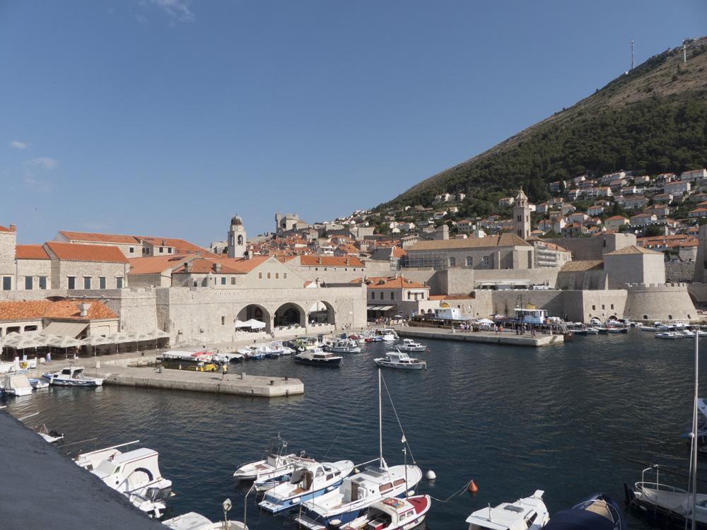 Vue sur le port de Dubrovnik