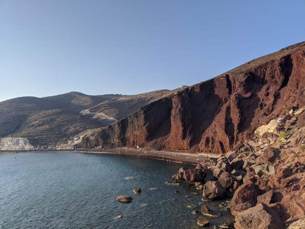 Red beach, Santorin