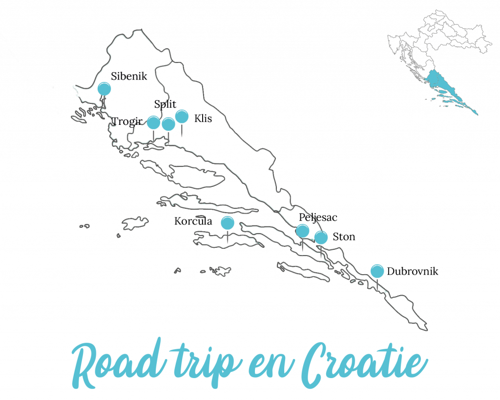 Itinéraire road trip en Croatie