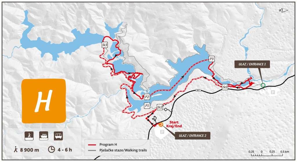 Itinéraire dans le parc national de Plitvice