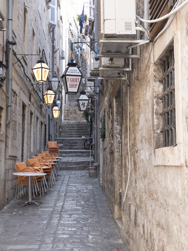 Ruelle dans la vieille ville de Dubrovnik
