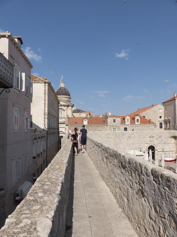 Vue sur les remparts de Dubrovnik