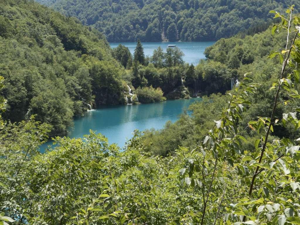 Vue sur le parc national de Plitvice en Croatie