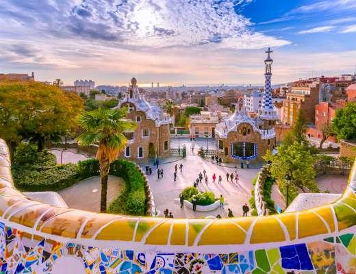 Barcelone insolite : vue du parc Guell