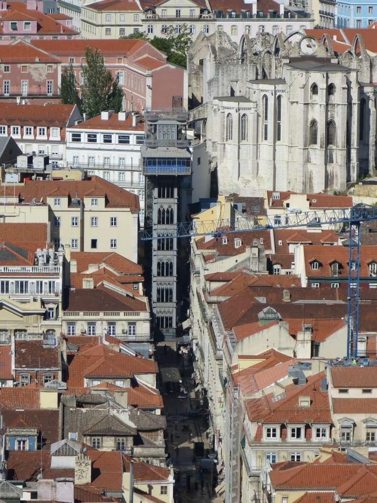 Elevador de Santa Justa vu de haut