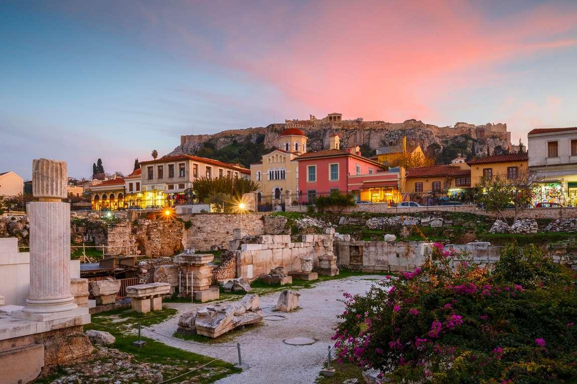Visiter Athènes sans voiture : le quartier de Monastiraki