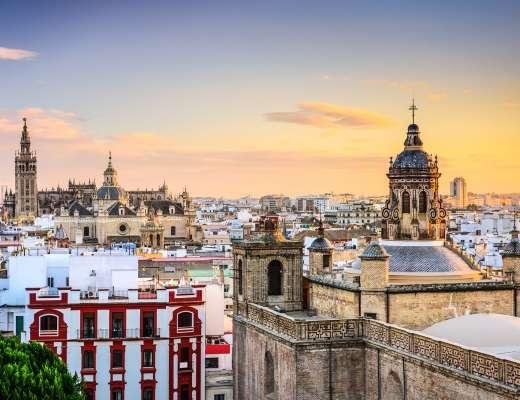 Visiter Séville sans voiture : vue sur la ville